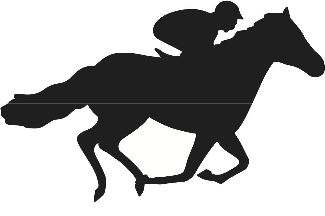 horserace silouette